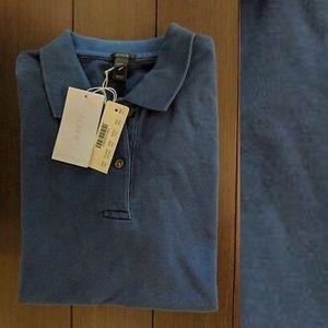 NWOT J. Crew Navy Blue Polo Shirt